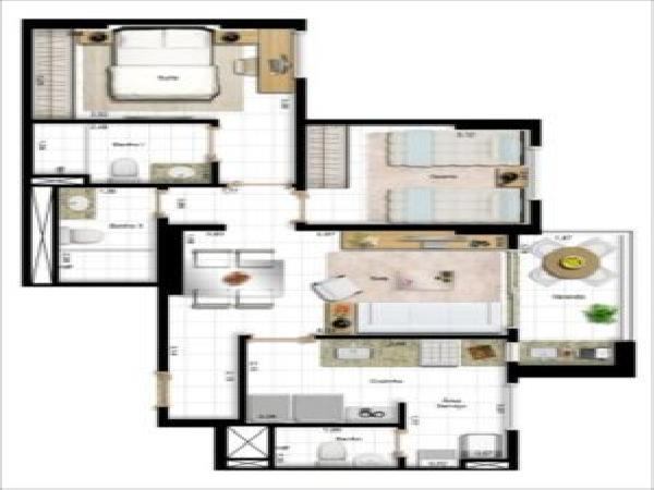 Art Life Design - Planta 2 quatos 67m²